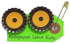Girl Scout SWAP Lemur Eyes - would be cute with pipe cleaner lemur tail Girl Scout Swap, Daisy Girl Scouts, Girl Scout Leader, Girl Scout Troop, Boy Scouts, Girl Scout Brownie Badges, Brownie Girl Scouts, Girl Scout Cookies, Madagascar 3