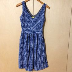SOLD Anthropologie My Maeve blue print dress 2 pockets Size 4 by ! Size 4 / S for $$40.00. Check it out: http://www.vinted.com/womens-clothing/casual-dresses/22047957-maeve-blue-print-dress-2-pockets-size-4.