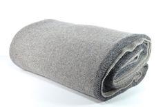 Grey Wool Camp Blanket Grey Stripe