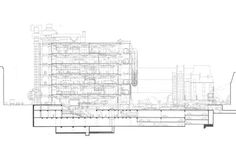 Centre Georges Pompidou - Relationship between parking entrance and main hall