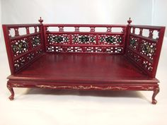 1:12 Scale JiaYi Dollhouse Miniature Furniture Hand Carved U0026 Painted Day  Bed   EBay