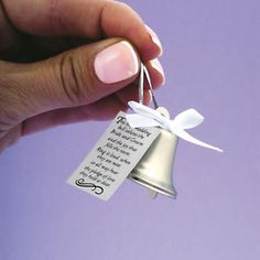 Wedding Bells -  A nice moder twist is to hand out tiny bells to your guests to ring at certain points during your wedding ceremony or when you exit the church instead of throwing confetti.