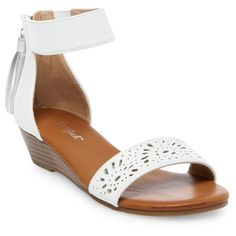 829fd5c9104aa Absolutely adorable - the Girls  Fianna Sliver Wedge Sandals Cat and Jack -  White.