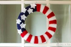 All-American Wreath - Decorate your door this summer with All-American Wreath. This patriotic craft project is great for hanging on your door anytime during the summer, but it's especially perfect for the 4th of July and Labor Day.