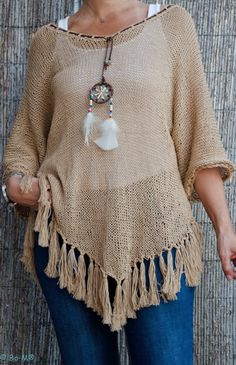 Bo-M: Túnica Navajo Camel Crochet Poncho, Navajo, Beautiful Outfits, Pullover, Knitting, My Style, Sweaters, Handmade, Clothes