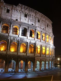 Colloseum at night. It was so interesting.