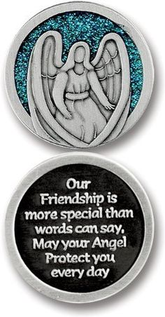"""GUARDIAN Angel POCKET Token for FRIEND - Friendship - 1.25"""" Metal Coin - INSPIRATIONAL Gift - PROTECT -You Are Special CA http://www.amazon.com/gp/product/B00KH69O72/ref=as_li_qf_sp_asin_il_tl?ie=UTF8&camp=1789&creative=9325&creativeASIN=B00KH69O72&linkCode=as2&tag=divinetreas03-20&linkId=PN5DRGTGILJB2XOQ"""