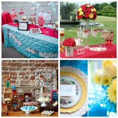 Aqua Blue, Red, & Butter Yellow {Weddings} · DIY Weddings | CraftGossip.com