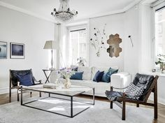 Tour a Feminine Home in Shades of Gray via @domainehome