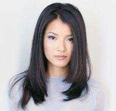 Kelly Hu - Mid-length hair