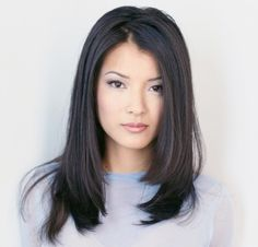 Kelly Hu - Mid-length hair