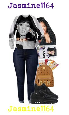 """Rihanna Outfit"" by jasmine1164 ❤ liked on Polyvore featuring NIKE, women's clothing, women, female, woman, misses and juniors"