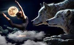 night, landscape, surreal, moon, planets, classical dance, hip-hop, drops, broken glass, romantic, wolves, friends, clouds