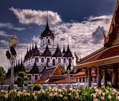 The Loha Prasat (Metal Castle) at Wat Ratchanadda, Bangkok