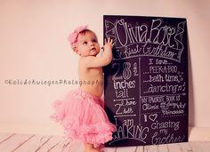 Cake smash studio session. Photography. Pink. Tutu. Dancing. Chalkboard. 1 year old birthday. First birthday. ©Kati Schwieger Photography Lincoln, NE