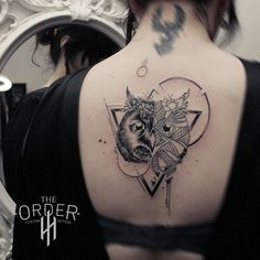 Image result for geometric owl tattoo