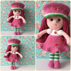 Amigurumi strawberry Girl Made by Kriziwizi@hotmail.com Http://Kriziwizi-com.webs.com