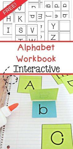 Free Alphabet Workbook - Interactive Preschool - The Relaxed Homeschool