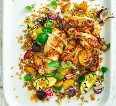 Sticky citrus chicken with griddled avocado & beet salad - another delicious and light supper idea.