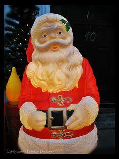 Restored vintage NOMA blowmold Santa.  Gorgeous!