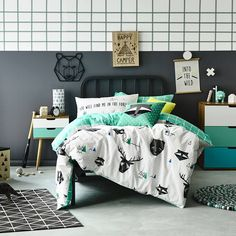 Modern decoration for a boy's room with some pops of color #kidsroom #kidsbedroom #decoratingideas Find more inspirations at www.circu.net