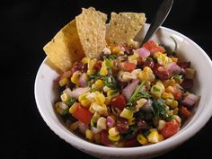 The Apron Gal: Roasted Corn and Black Bean Salsa