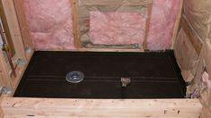 How to build a shower pan yourself. Shower pan installation instructions for building a custom shower pan. Shower Pan Installation, Plumbing Installation, Building A Shower Pan, Custom Shower Pan, Mold In Bathroom, Bathrooms, Boho Bathroom, Small Bathroom, Bathtub