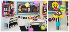 Neon Pop Collection by Schoolgirl Style www.schoolgirlstyle.com emoji classroom decor poop bulletin boards pineapples neon