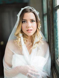 Elegant-Industrial-Wedding-Inspiration-Bride-Hair-Makeup