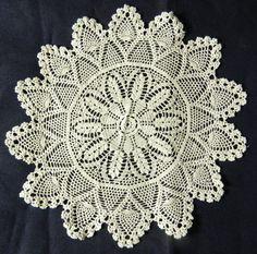 "4 White Lace Round Placemats Cotton Pineapple Crochet Set Doily Doilies 12"" 1 ft #DoilyLaceRoundCircularCrochetPlacemat"