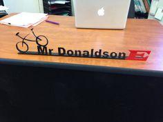 Teacher Desk Name Plate Name Tag Office Desk by WeldingByWhitt, $44.99