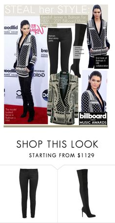 """Steal Her StyleKendall Jenner In Balmain For H&M – 2015 Billboard Music Awards"" by kusja ❤ liked on Polyvore featuring Balmain, Gianvito Rossi, Firth, RedCarpet, Stealherstyle, celebstyle, kendalljenner and Billboard"