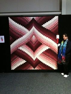 Bargello Quilt I could totally crochet this... just not in these colors. I love this design!