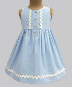 Look what I found on #zulily! Chambray Penelope Dress - Infant, Toddler & Girls #zulilyfinds