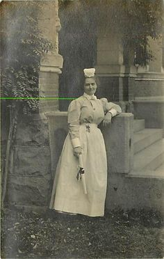Old postcard image of a graduating nurse; year unknown