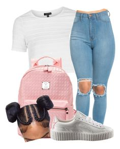 """""""Simple"""" by darkskinn-awa ❤ liked on Polyvore featuring Topshop and Puma"""