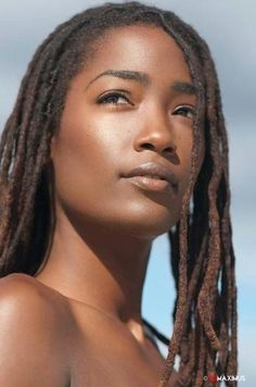 Beautiful skin, face and dreds