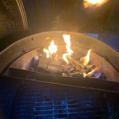 The weather is mucky but the #barbecue has been lit