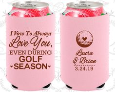 I Vow to Always Love You, Even During Golf Season, Neoprene Wedding, Golf Wedding, Neoprene Wedding Favors (305)