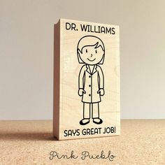 Personalized Female Teacher, Professor or Doctor Rubber Stamp- Choose – PinkPueblo
