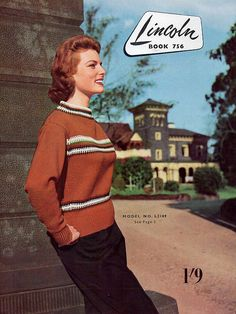 1950s Vintage Sweater Knitting Patterns for by BessieAndMaive, $8.00