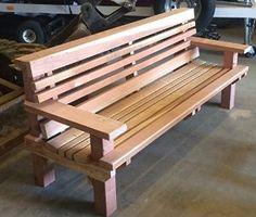 Amazon.com : Redwood Bench (8') : Patio, Lawn & Garden