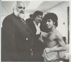 Backstage 1999 Tour with Big Chick, may he rest in peace, and Bobby Z. Prince's very close friend and drummer who was there from the beginning.