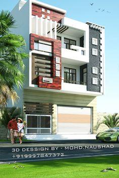House Balcony Design, Single Floor House Design, Bungalow House Design, House Front Design, Temple Design For Home, Home Building Design, Building Facade, Modern Bungalow Exterior, Exterior House Siding