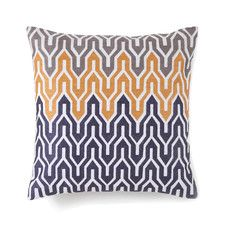 Plimpton Flame All Over Embroidered Flame Decorative Pillow