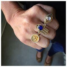 Spirit guides #SerenitySunday #EvilEye #HandOfFatima #Om #Protection #Lapis #InnerTruth #WhatsNew #Rings #Jewelry #AnnaBeck