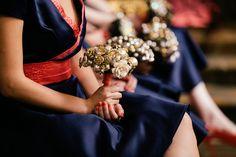 #Bridesmaids Carried #Brooch #Bouquet also   Full feature here - http://www.stylemepretty.com/2013/11/06/prague-ballroom-wedding-from-lukas-konarik-white-prague-wedding-agency   Photography: Lukas Konarik - prague-wedding-photographer.com