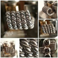 More pics of previous coil 24g AN80 twisted Then helixed with 2 strands 30g Kanthal clapton with 40g N80 Dual coil on the darkhorse rda metering at 0.15ohm So crazy, built this then looked over at @squidoode page and realized he just did this build using 32g. Build brothers for life! Lol #coilporn #coilart #twistedmesses #anarchistmfg #vapehappy #vapepornbuild @coilporn @anarchistmfg #nofilter #Padgram