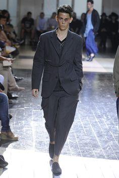 Luxurious fabric and subtle volume.  Yohji Yamamoto Men's RTW Spring 2013