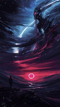 "Echoes Of Fantasy — st-just: The Omen by Alena Aenami ""It was. Dark Fantasy Art, Dark Art, Galaxy Wallpaper, Cool Wallpaper, Zed League Of Legends, Madara Wallpaper, Ancient Greek Sculpture, St Just, The Omen"
